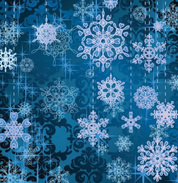 blue stylish Moscow snowflake background pack about Flashlight pattern