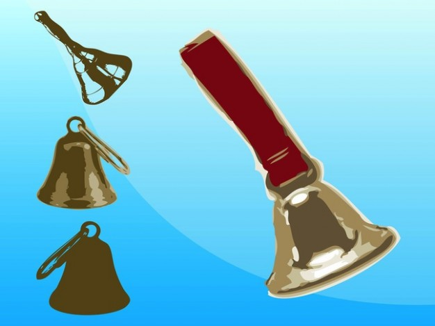 Change ringing set Bells of metal bells about Percussion Music