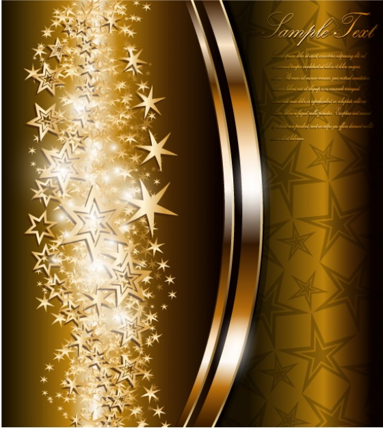 Chocolate bright Home star background material 1 about holiday card design