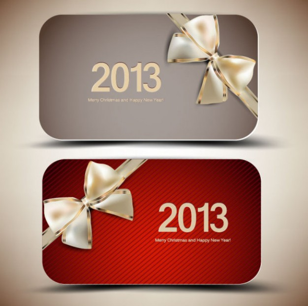 Christmas 2013 Ribbon silver ribbon cards about Christmas card design