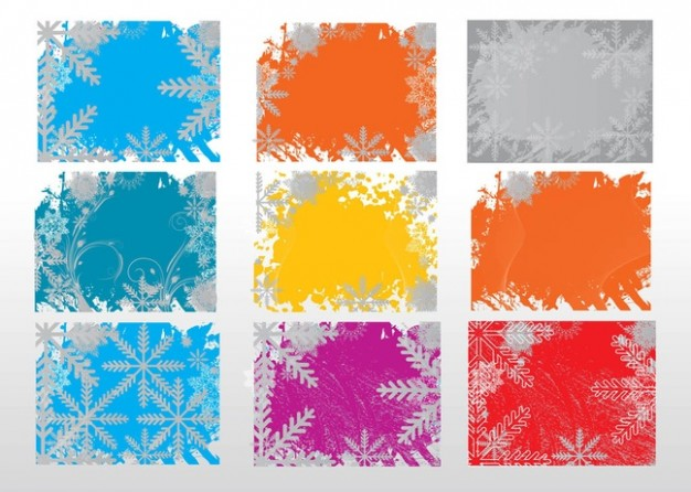 christmas color plate backgrounds in watercolor