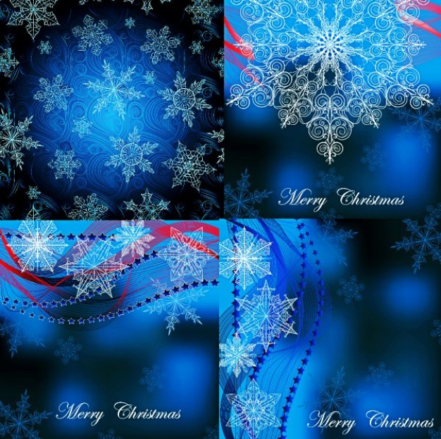 Christmas decorative charm snowflakes background set about blue light style craft Holidays