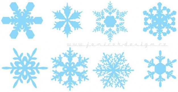 Christmas design elements set of snowflakes about winter Snowflake