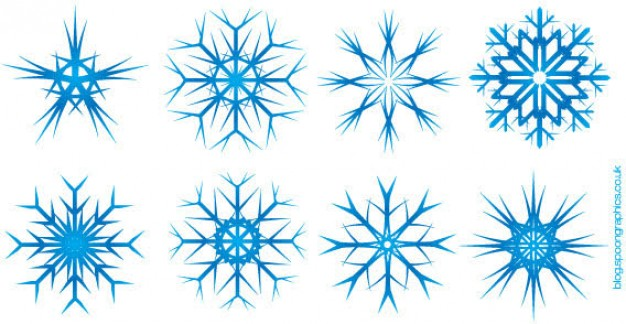 Christmas eight Snowflake blus snowflakes about Holidays material