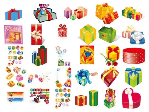 Christmas gift box set of material about Gift Baskets collect