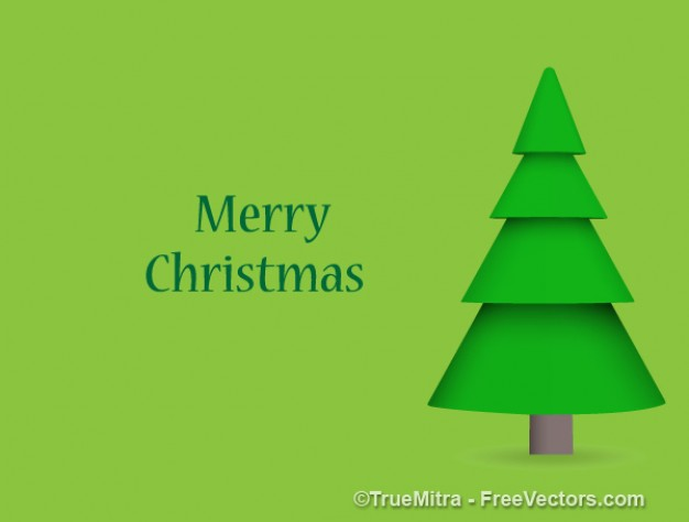 Christmas green tree christmas pine greeting card about Holiday Tree