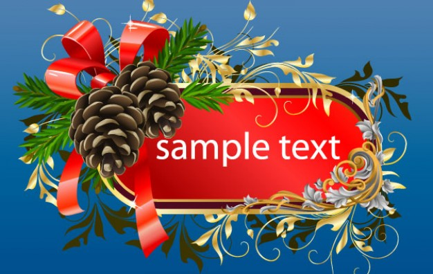 Christmas Holiday frame template about Wreath Christmas card design