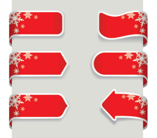 Christmas Holiday ribbon banner about snowflakes Opinions craft