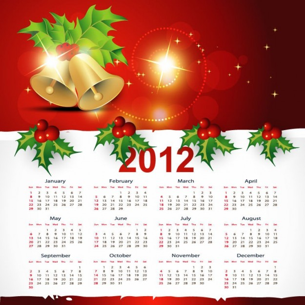 Christmas holiday style calendar graphic about Snowflake Do it yourself