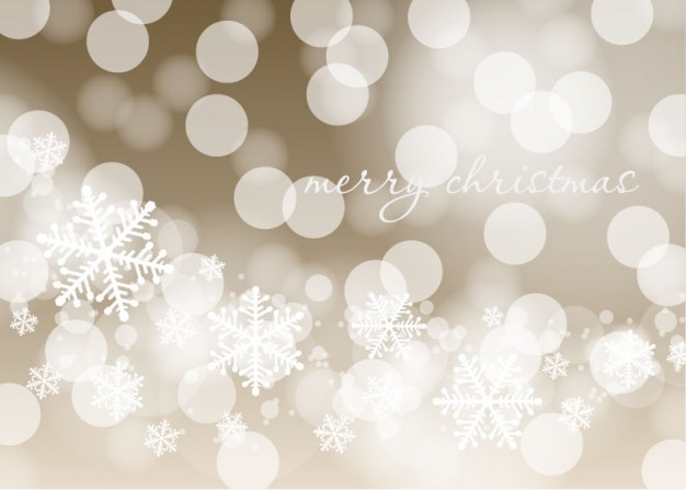 Christmas lights Holiday and flakes christmas background about bubbles light