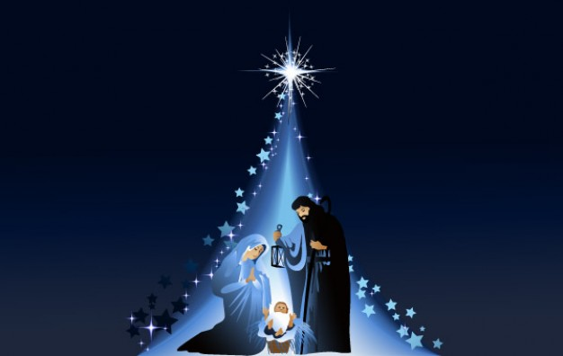 Christmas mary Jesus joseph and jesus below to a star about Mary Holidays