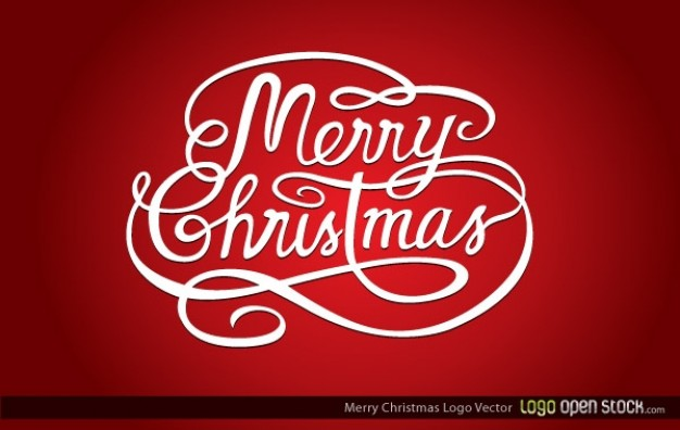 Christmas merry Holiday christmas logo about red background Opinions