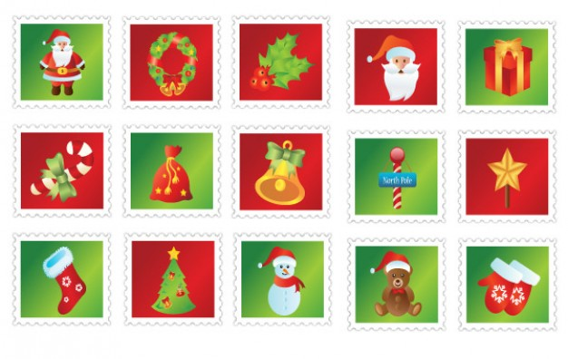 Christmas Santa Claus icons about Holiday Christmas and holiday season