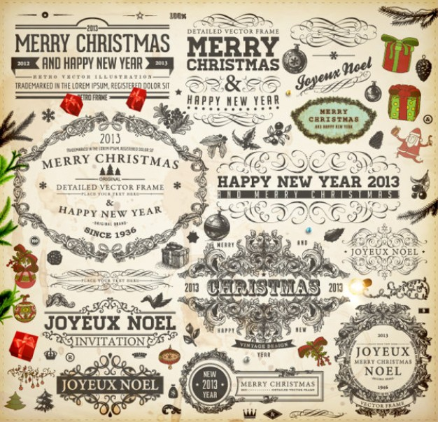 Christmas Santa Claus theme label material about Shopping holiday