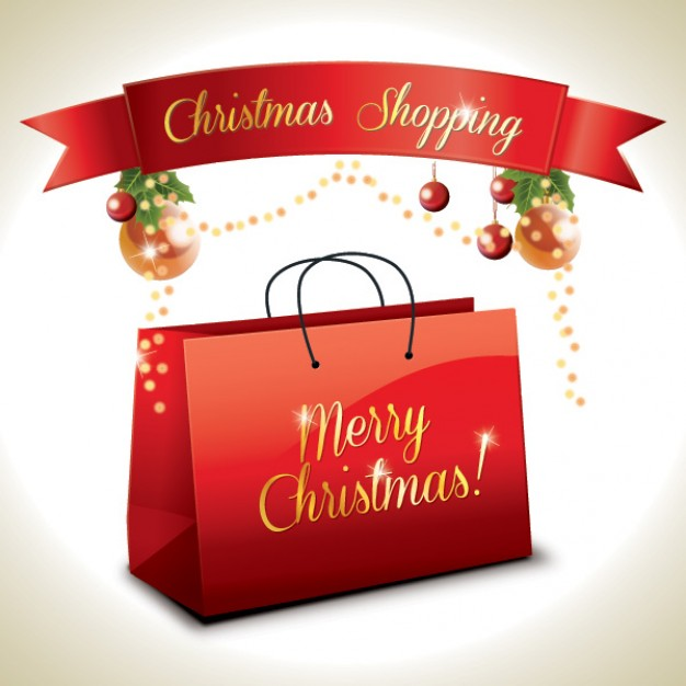 christmas shopping gift box about merry Christmas