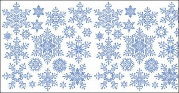 Christmas Snowflake about England Folklore holiday pattern