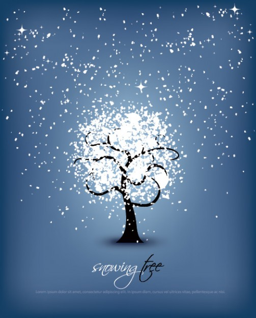 Christmas snowing Tree about Christmas tree dream scene