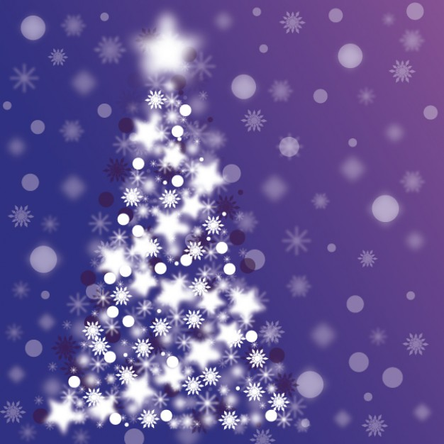 Christmas sparkle christmas tree about Holiday Santa Claus and purple background