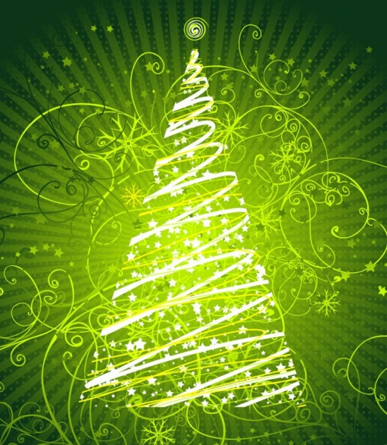 Christmas tree abstract Christmas floral graphic about New Year Pinterest