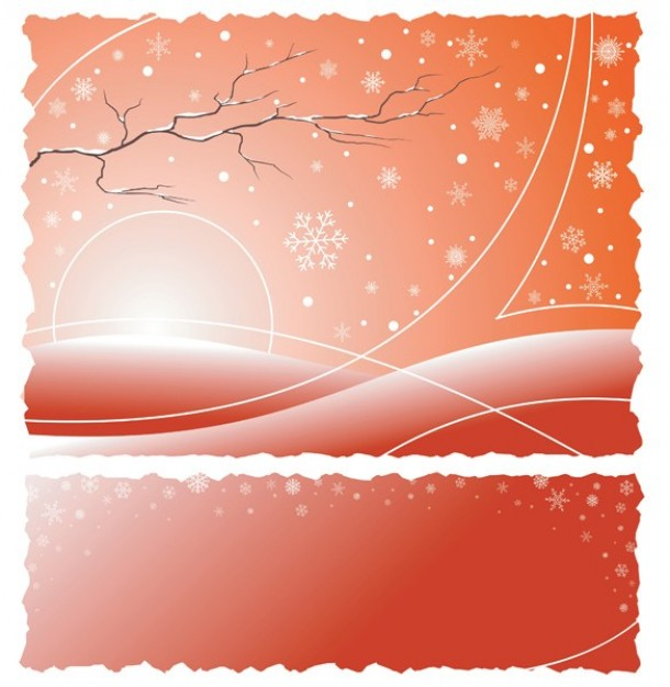 Christmas winter Snowflake morning with snowflakes abstract pink background