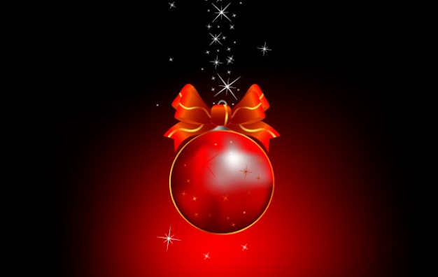 cool christmas ball over dark background