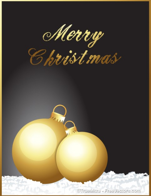 decorative golden balls with dark grey background for christmas