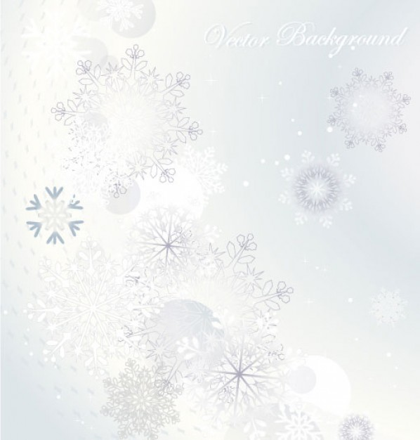 elegant pattern with snowflakes and light green background