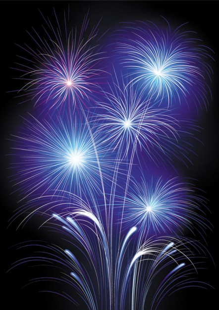 Fireworks purple Pyrotechnics fireworks about New Year scene