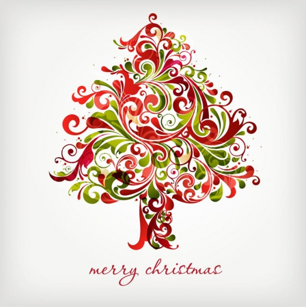 floral Christmas tree swirls tree for christmas graphic about Shopping Holidays