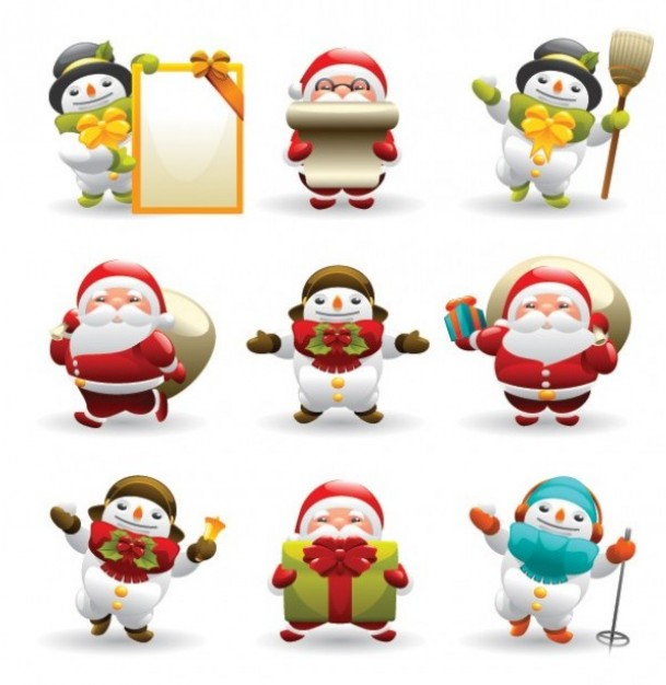 Frosty the Snowman santa Facebook and snowman icons about Christmas elements
