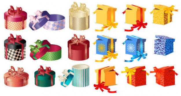 gift wrapping gift box material about Christmas Shopping