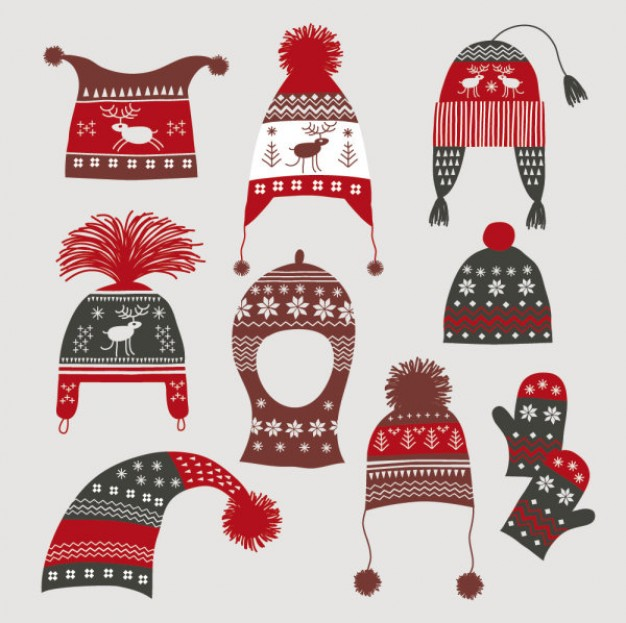 Glove winter Clothing hats gloves in red and gray about Shopping Accessories