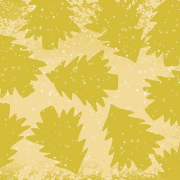 green pines silhouettes pattern with Christmas trees