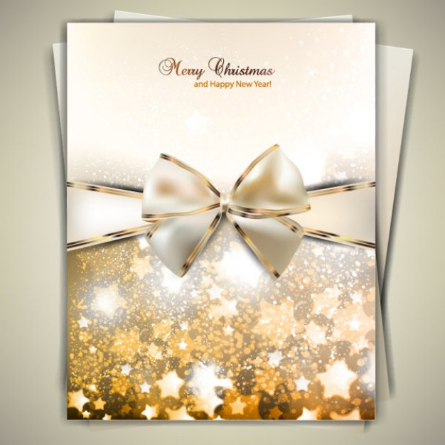 Greeting card gold Christmas greeting card design about Stationery cover design