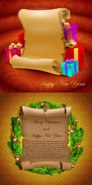 Greeting card parchment Shopping greeting cards and gifts material about Gift Christmas
