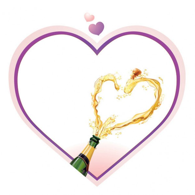 Heart (symbol) heart Angelina Jolie shaped champagne about love style