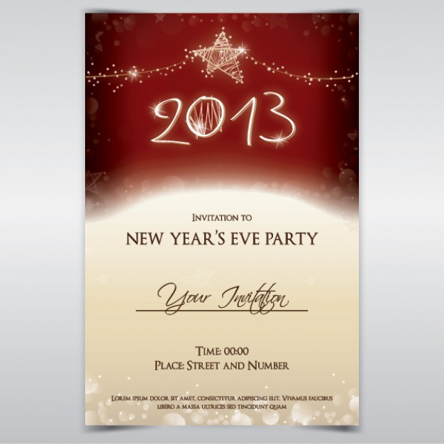 Holidays party Glade invitation about New Year card design