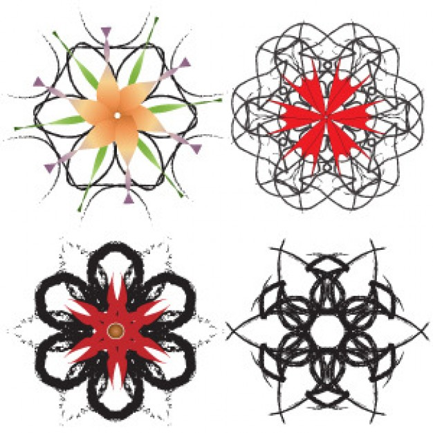 Ironside decorative art snowflakes doodle about sketch art