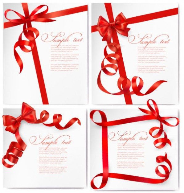 Lace card Craft vectors with red laces about Ribbon Arts cover