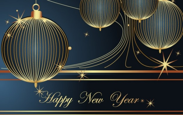 New Year happy Christmas new year decoration element about Holiday card