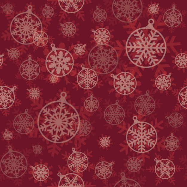 pattern in dark red with christmas snowflakes