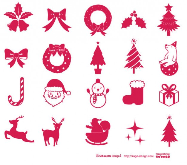 pink Santa Claus xmas Christmas elements about Holiday Jingle Bells