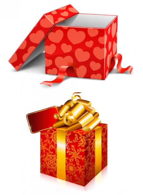 red and golden Shopping gift material about Gift Baskets Christmas