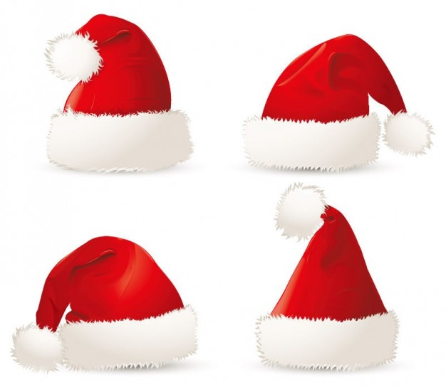 red Christmas christmas santa hats about Holiday material