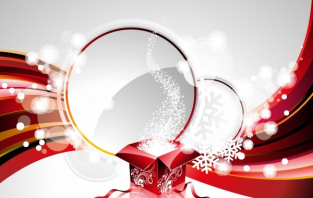red Holidays new year background design element about gift bubbles
