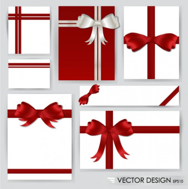 Ribbon red Business and white ribbon for cards about Christmas Recreation