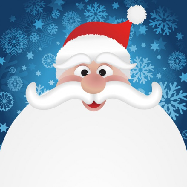 Santa Claus cartoon about Christmas  Holidays card design