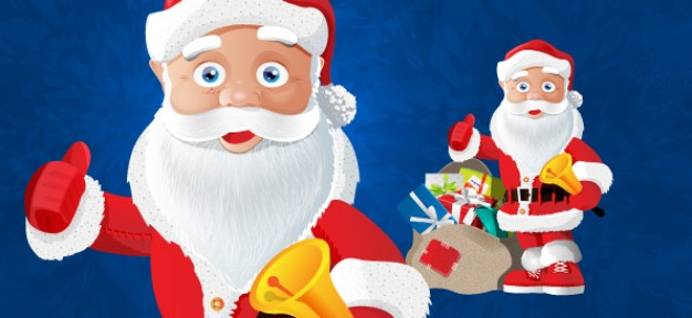 Santa Claus Christmas claus character with presents about Holidays Saint Nicholas