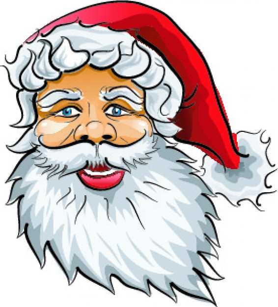 Santa Claus Christmas claus head about Holiday element