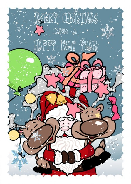 Santa Claus funny Christmas santa claus with deer material about Deer Holidays